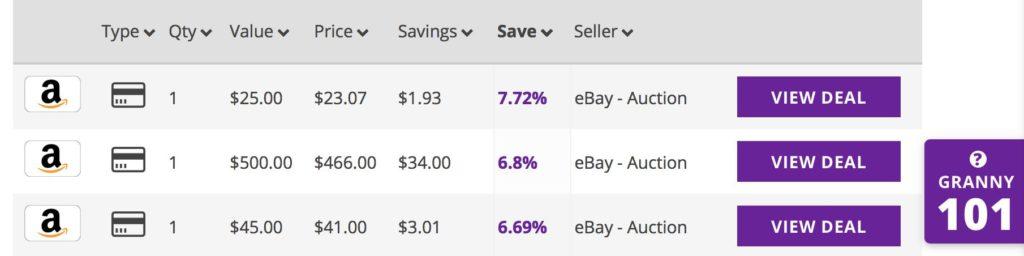 GiftGranny לקנות בזול באמזון - גיפט קארד