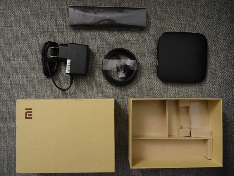 Xiaomi Mi Box - תכולת הקופסא